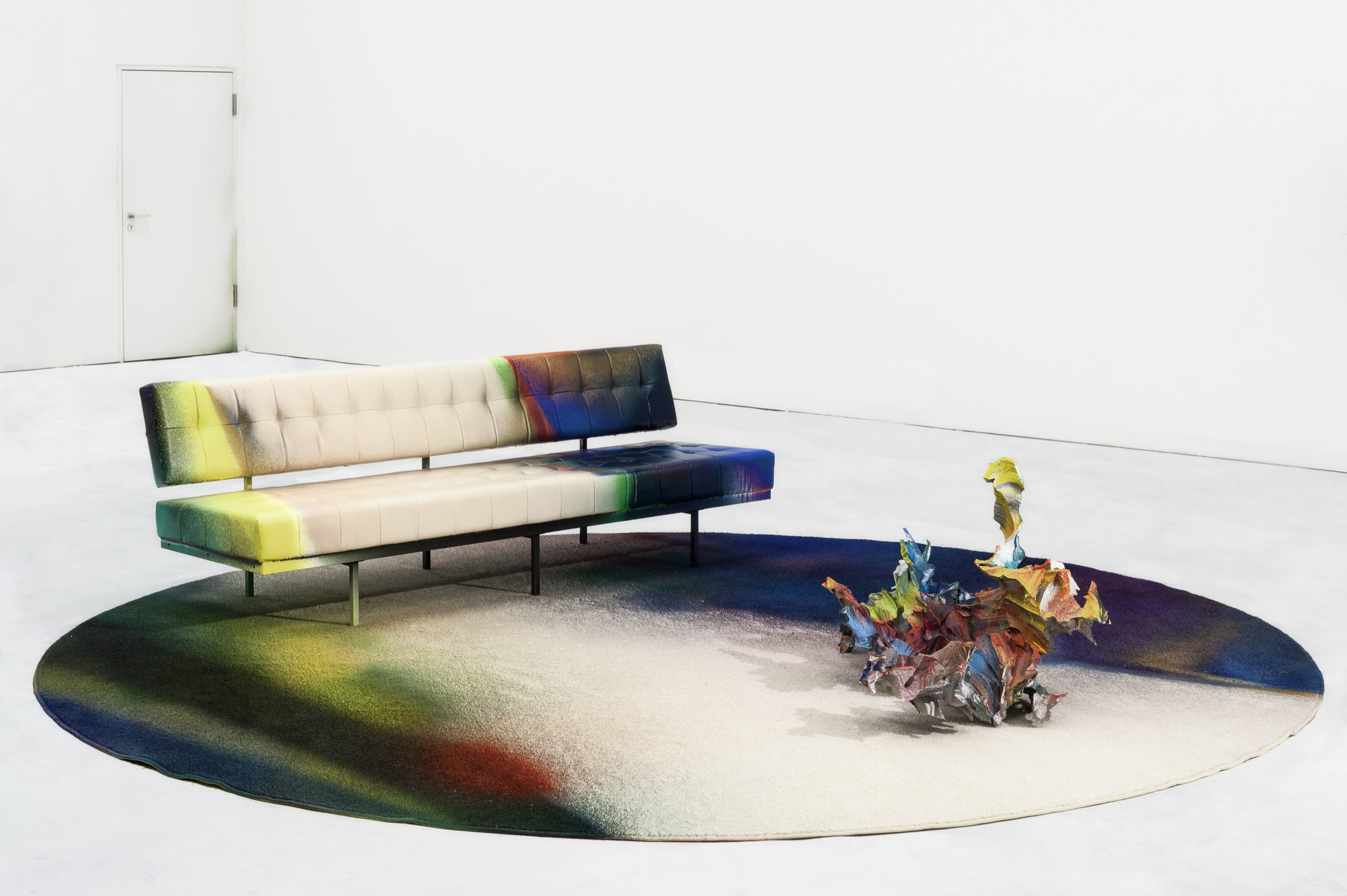 Sofa Größe snakes lie between and the shore katharina grosse